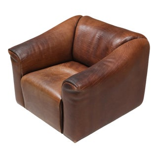 1970s De Sede Ds 47 Brown Leather Armchair For Sale