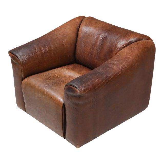 1970s De Sede Ds 47 Brown Leather Armchair For Sale