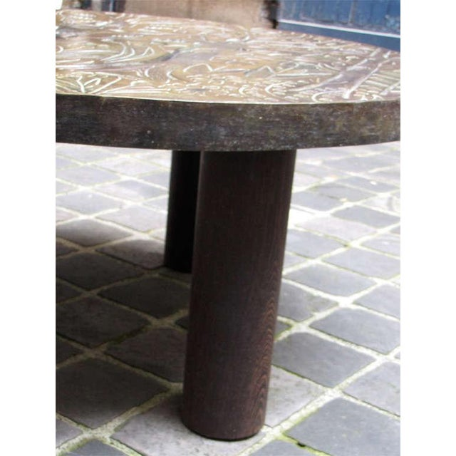 1940s Coffee Table by Helena Guastella For Sale In New York - Image 6 of 7