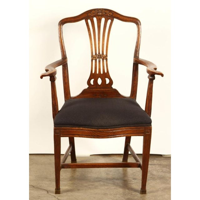 Late 18th Century Danish Elm Armchair, circa 1780 For Sale - Image 5 of 8