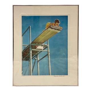 High Dive Board Norman Rockwell Numbered & Signed Print For Sale