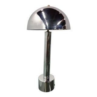1960s Mid-Century Modern Laurel Lamp Company Chrome Table Lamp