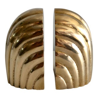 1970s Art Deco Brass Bookends - a Pair For Sale
