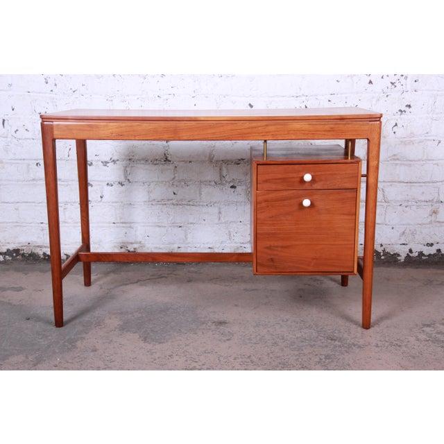 1960s Kipp Stewart for Drexel Declaration Mid-Century Modern Walnut Desk and Chair For Sale - Image 5 of 13