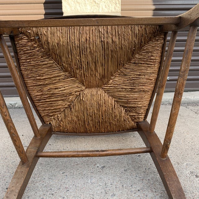 Mid 19th Century French Walnut Rush Seat Armchair For Sale - Image 12 of 13