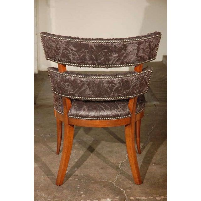 Metal Paul Marra Klismos Style Chair For Sale - Image 7 of 8
