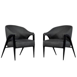 Vintage Mid Century Modern Club Chairs - a Pair For Sale