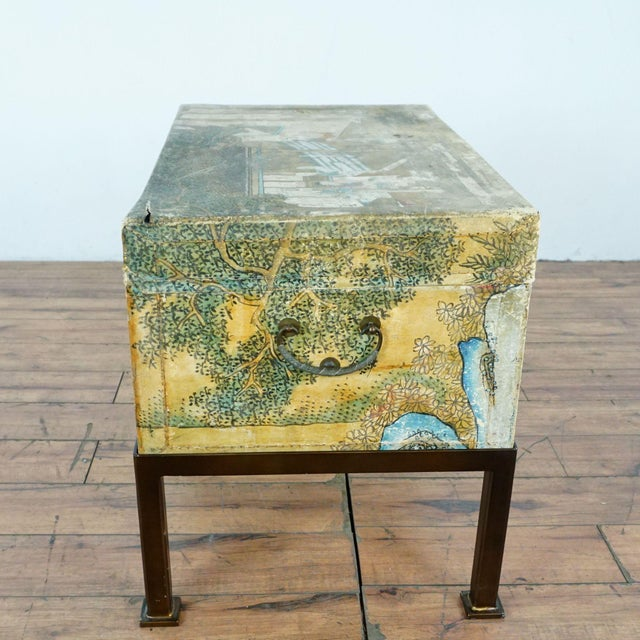 Early 20th Century Antique Chinese Leather Trunk For Sale - Image 5 of 12