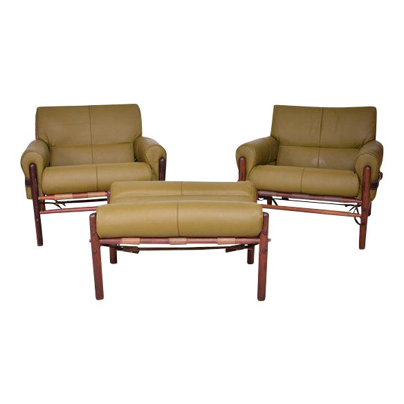 "Arne Norrel ""KONTIKI"" Pair of Safari Chairs - Image 1 of 11"