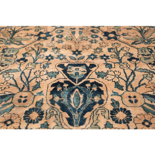 Antique Persian Kerman Oversized Vase Design Carpet - 13′6″ × 25′5″ For Sale - Image 10 of 13