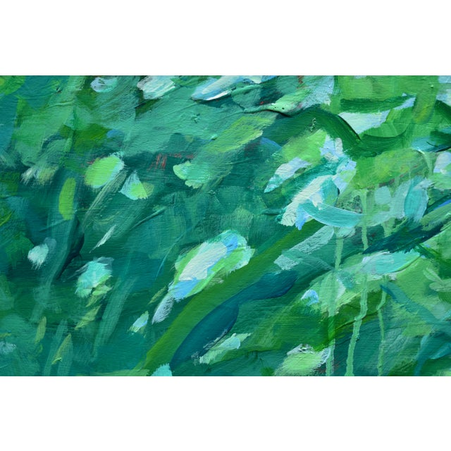 "Green ""A Midsummer Day's Dream"" Large (32"" X 80"") Contemporary Painting by Stephen Remick For Sale - Image 8 of 11"
