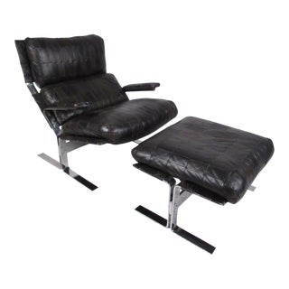 Lounge Chair and Ottoman Attributed to Richard Hersberger For Sale