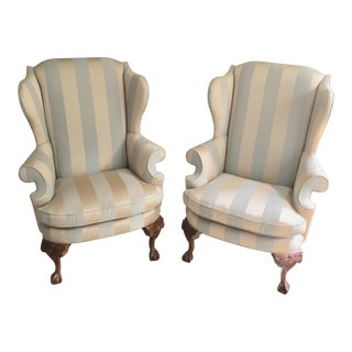 Drexel Heritage Wingback Chairs - a Pair