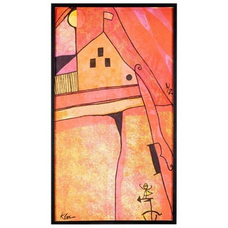 After Paul Klee Original Painting For Sale