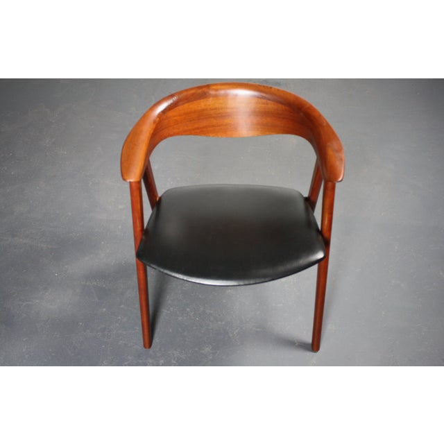 Erik Kirkegaard Teak Compass Sculpted Desk Chair For Sale - Image 7 of 8
