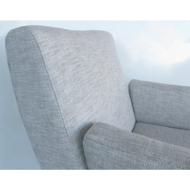 Mid-Century Modern Upholstered Club Chairs-a Pair - Image 8 of 10