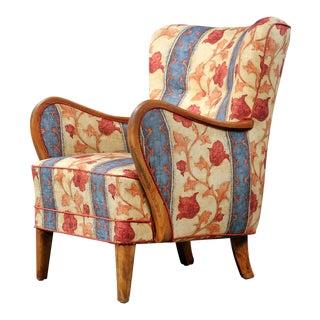 1940s Danish Modern Lounge Chair For Sale