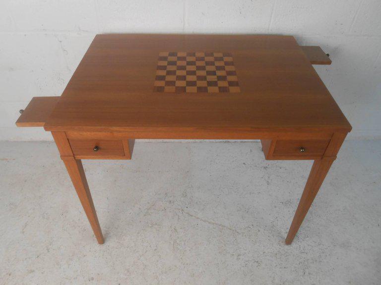 Mid Century Modern Mid Century Modern Danish Teak Flip Top Game Table Or