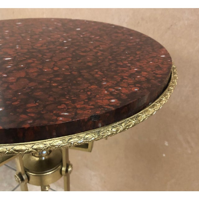 Bronze Antique French Bronze and Marble Pedestal For Sale - Image 7 of 8
