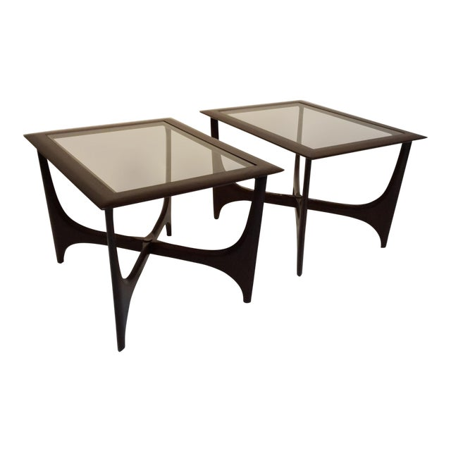 1950s Lane Side Tables - a Pair For Sale