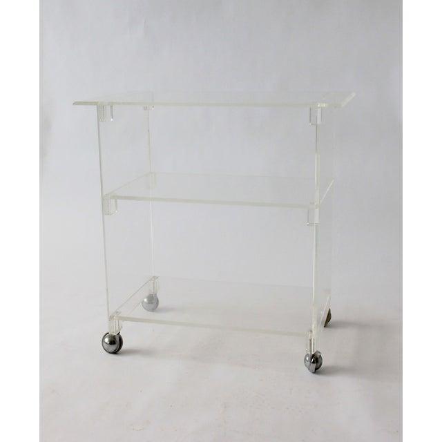 Vintage Lucite Bar Cart - Image 2 of 5