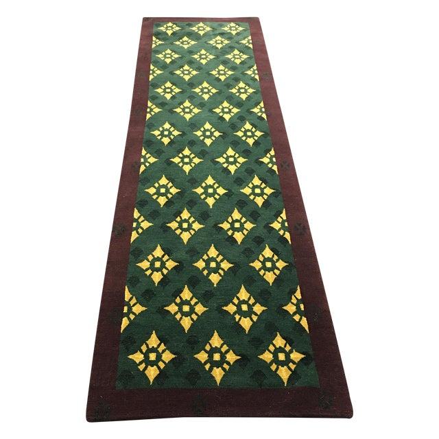 """Hand Woven Tibetan Oriental Runner - 2'6"""" X 8'11"""" - Image 1 of 5"""
