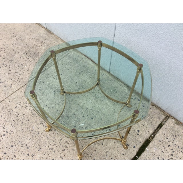 Vintage La Barge Octagonal Brass Side Table - Image 4 of 8