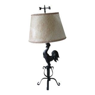 Vintage Rooster Lamp For Sale