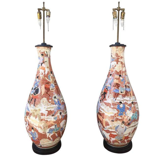 Incredible Palatial Pair Of 19th Century Japanese Kutani Porcelain