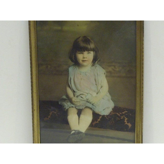 American Vintage Color Photograph of a Little Girl For Sale - Image 3 of 4