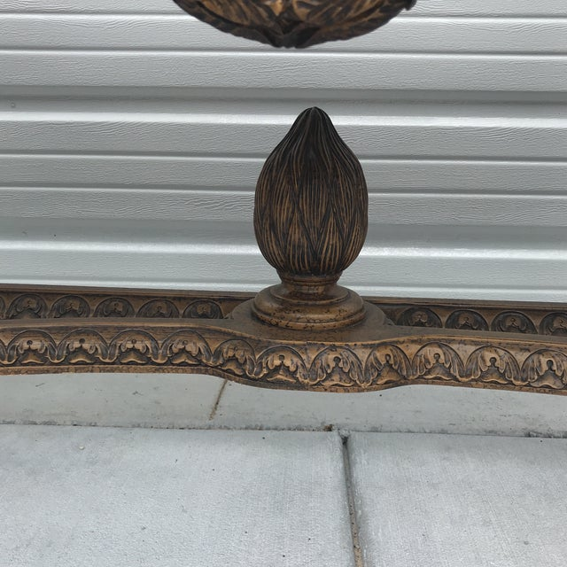 Maitland - Smith Maitland Smith Leather Top Console Table For Sale - Image 4 of 13
