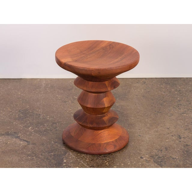 """Original first issue, Eames Time Life walnut stool """"C."""" Ray Eames created three turned-walnut stool designs for the Time..."""