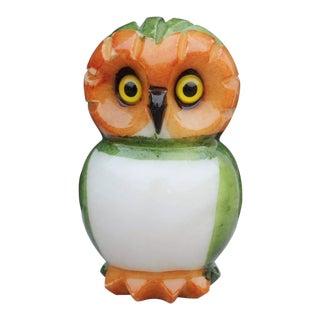 Ducceschi Italian Alabaster Owl Figure For Sale