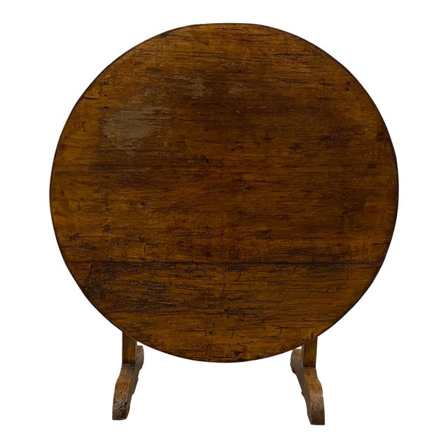 19th Century French Tilt Top Tavern or Wine Table For Sale