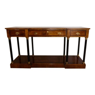 Century Furniture Mahogany Neoclassical Console Table For Sale
