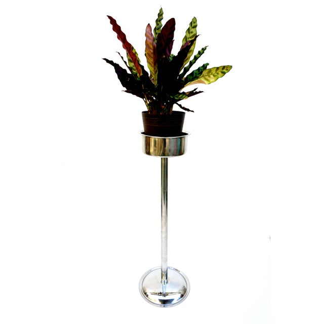 Art Deco Silver Geometric Champagne Chiller & Stand - Image 10 of 10