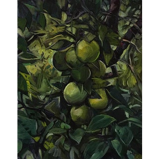 """Blair Oil Painting, """"Fruit Tree in Cuba"""", 11 X 14 In. Oil on Canvas For Sale"""