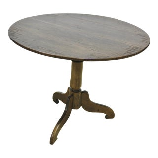 1900s English Traditional Pedestal Tripod Table For Sale