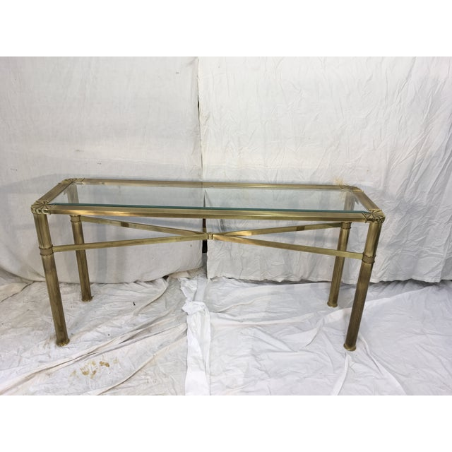 Modernist Brass Console Table - Image 3 of 9
