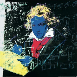 Andy Warhol, Beethoven-Yellow Book-Large, 1990, Offset Lithograph For Sale