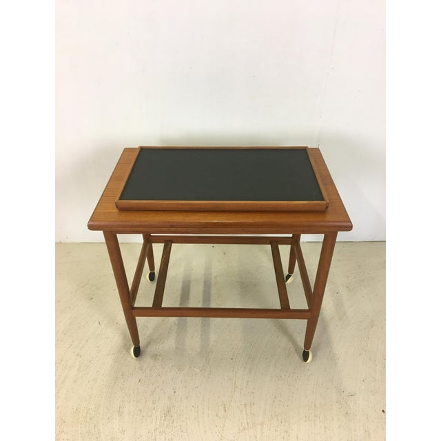 Poul Jeppesen Ole Wanscher Teak Convertible Bar Cart and Server For Sale - Image 4 of 8