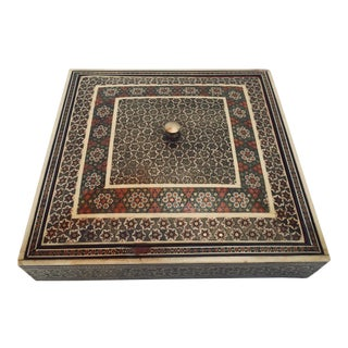 Persian Micro Mosaic Inlaid Jewelry Box For Sale