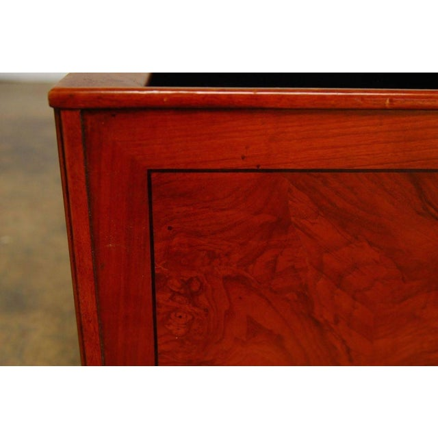 Italian Planters With Burl Wood Insets - A Pair - Image 5 of 5