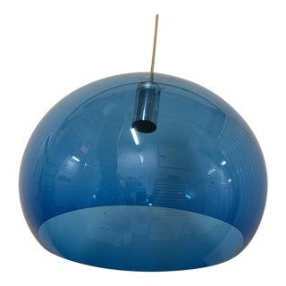 Blue Globe Plastic Chandelier For Sale