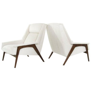 1960s Folke Ohlsson for DUX Lounge Chairs, Sweden - a Pair For Sale