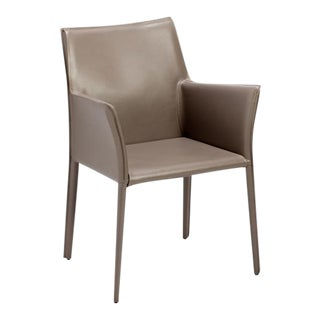 """Jada"" Taupe Leather Chair"