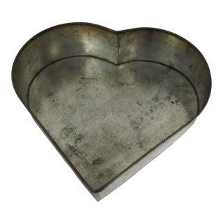 Vintage Aluminum Heart Pan For Sale