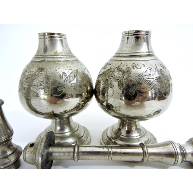 Early 20th Century Antique Silver Plate Persian Incense Burners or Censers - a Pair For Sale - Image 5 of 6