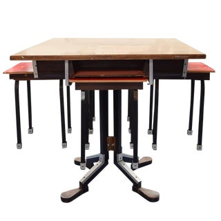 German Cafe Table and Stools