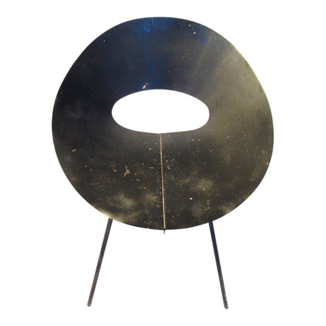 Black 1960s Modern Donald Knorr for Knoll Slipper Chair For Sale - Image 8 of 8